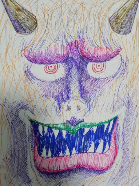 父が描いた鬼の絵